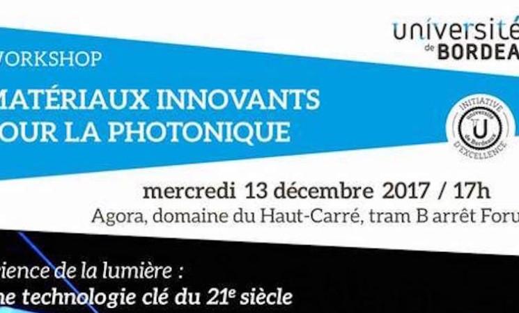 13.12.2017 - Workshop Matériaux innovants et photonique - Valence