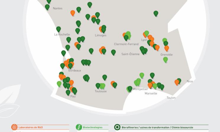 Une cartographie des sites de la chimie du végétal en France