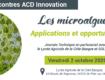 2.10.2020 - Saint-Pée-sur-Nivelle - Les Rencontres ACD Innovation : Les microalgues – applications et opportunités