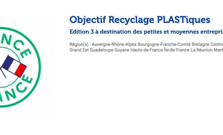 ORPLAST - Objectif Recyclage PLASTiques Edition 3 à destination des PME