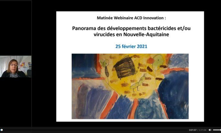 Retour sur la matinée webinaire sur les développements bactéricides et virucides en N-A du 25 fév 2021